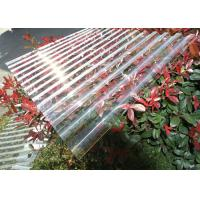 China Thick Corrugated Perspex Roofing Sheets / Corrugated Polycarbonate Roof Panel on sale