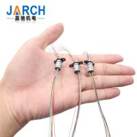 China 36 Conductors 2A Capsule Electrical Slip Rings 250RPM with 90° V-groove Ring 6 Circuit on sale