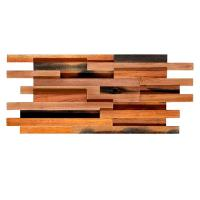 Solid Wood Mosaic Wall Panels , Room Reclaimed Boat Wood Wall Panel Manufactures