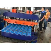 Building Material Roof Panel Roll Forming Machine , Trapezoidal Profile Sheet Roofing Machine Manufactures
