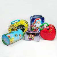 China carry tin box, handle box for gifts on sale