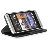 China Lithchi PU Luxury Leather Protective Case for HTC Desire 601 with Stand and Card Holders on sale