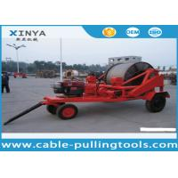 3 - 8T Multi function Full Cable Drum Trailer Machine for electric power construction Manufactures