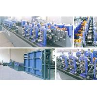 Straight ERW Tube Making Machine With HF Welding Stable 90 m / Min Manufactures
