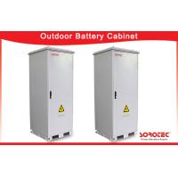 White Outdoor Telecom Cabinet , Metal Electronic Enclosures With Air Conditioner Manufactures
