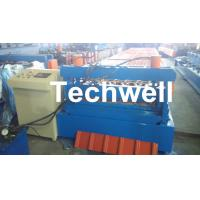 0.3 - 0.8 mm Thick Roof Sheet Cold Roll Forming Machine with PLC Computer Control Manufactures