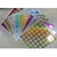 Quality Anti - Dirty Security Hologram Stickers Multi Color In Small Round Shape for sale