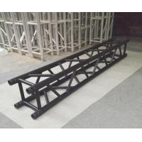 Indoor Stage Lighting Truss , 4 Sides Brace Tube 290 * 290mm Black Aluminum Spigot Truss Manufactures