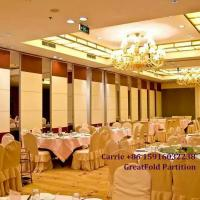 China high quality aluminum fold partition door for conference center on sale