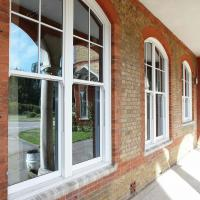 Double Or Single Glazing Hung Aluminum Sash Windows / Vertical Opening Windows Manufactures