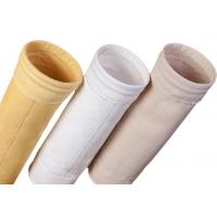Cement Silo Polyester Felt Filter Bag 2000 - 9000mm Length 190 Degree Working Temperature Manufactures