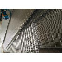 Heavy Duty Welded Wedge Wire Screen Panel For Liquid / Soild Filtration Manufactures