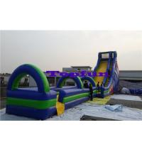 Gaint Inflatable Water Slide Outdoor Amusement Park / Beach Sliding Games Manufactures