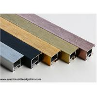 China Exterior Aluminium Snap Frame Profile With Good Anodized Brushed Effect on sale