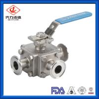 China Stainless Steel Sanitary Ball Valve 1 - 4 Inches 3 Way Medium Pressure on sale