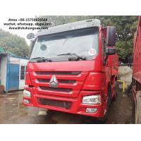 HOWO 375 Euro 3 Used Dump Trucks 9000 * 2500 * 3500 Mm Easy Operation Manufactures