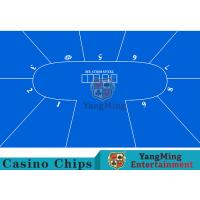Flexible Three Card Roulette Table Layout With Velvet Suede Fabric Surface Manufactures