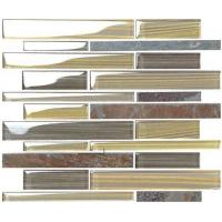 New Best Selling  Atpalas Sourttain Glass mix Stone  Mosaic Tile AGL7049 Manufactures