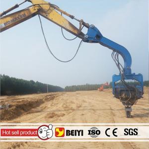 BEIYI V250D V330 V350 Pile Hammer Hydraulic Vibratory Pile Driver For Excavator Manufactures