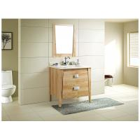 Classical marble countertop bathroom vanity , bathroom single sink vanity optional Waste drain Manufactures