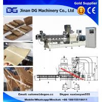 Buy cheap Automatic high protein content soya chunks/mince/nuggets/steak extruder machinery manufacturer twin screw extruder from wholesalers
