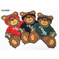 Buy cheap Custom Iron - On Backing Bear Logo Clothing Embroidery Patches Large Size from wholesalers