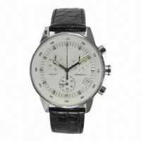 Chronograph Watch with Japanese Quartz Analog Movement Manufactures