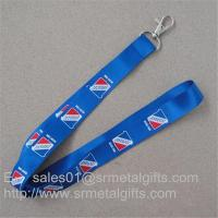 China Tailored full color imprint promotional neck straps, tailor made promotional neck ribbon, on sale