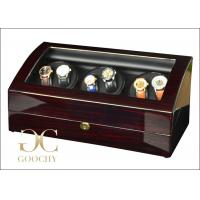 China Ruby Finish Wood Watch Winder / Triple Watch Winder For Luxury Watches on sale