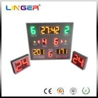 12'' Red Wireless Control Baseketball Digital LED Digital Clock With Waterproof Cabinet Manufactures