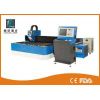 500w 800w Metal Fiber Laser Cutting Machine Double Driving For Steel Sheet Manufactures