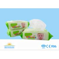 China Natural Baby Disposable Wet Wipes Flushable For Hand / Mouth Cleaning on sale