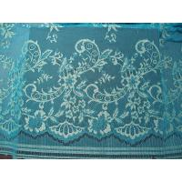 Stretchable Flower Nylon Metallic Lace Fabric Green Knitted For Clothing Manufactures
