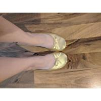 Extremely Comfortable Soft PU Material Folding Ballet Slippers for Women and Ladies Indoor Wear Manufactures