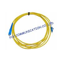 Simplex Singlemode Fiber Optic Cable Patch Cord For FTTH Systems, Low Insertion Loss Manufactures