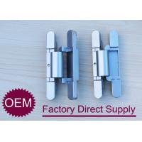 Die Casting zamak 2D concealed adjustable rebated door hinges 180 degree Manufactures