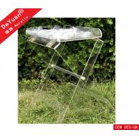 Outdoor Bending Transparent Acrylic Display Stand , Acrylic Tray For BBQ Manufactures