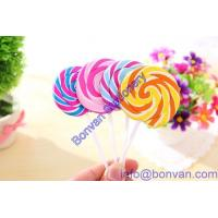 China Wholesale New design creative sweet heart lollipop shape eraser from china on sale
