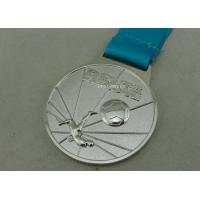 Customized Ribbon Football Awards Medals Full Relief Zinc Alloy Manufactures