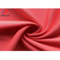 China Garment Bird Eye Mesh Weft Knitted Fabric Red Color Tear - Resistant on sale