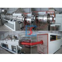 China Single Screw PP/PE Plastic Pipe Extrusion Line With CE / ISO / BV on sale