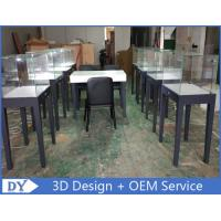Manufacturer supplier modern simple style wooden gray color museum exhibit cases with lights Manufactures