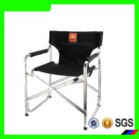 China Black color logo printed folding beach chair with carry bag on sale