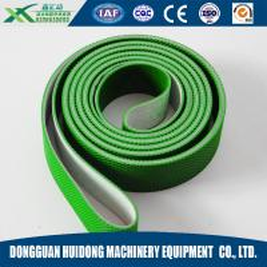 Green Rubber Conveyor Belt PVC Pattern Conveyor Belt Ribbed Custom Design