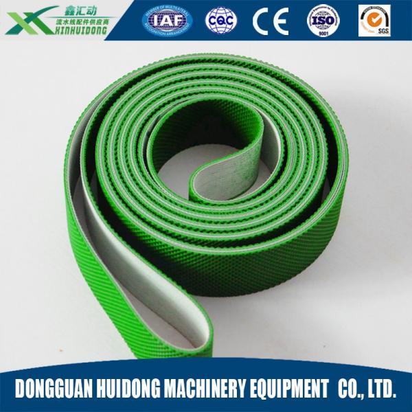 Quality Green Rubber Conveyor Belt PVC Pattern Conveyor Belt Ribbed Custom Design for sale