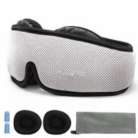 3D Breathable Contoured Sleep Mask / Nighttime Eye Mask Custom Logo Printed Manufactures