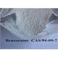 Pain Killer Local Anaesthesia Drugs , Pure Benzocaine Powder Cas 94 09 7 99% Assay Manufactures