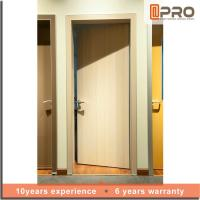 Bedroom MDF Interior Doors With Alkali Sand Flat Panel Surface Color Optional Manufactures
