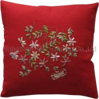 China Embroidered cushion covers on sale