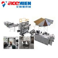 China PVC Imitation Artificial Marble Making Machine Decoration With UV Coating on sale